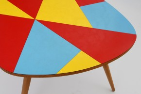 Colored formica coffee table