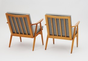Pair of Ton armchairs